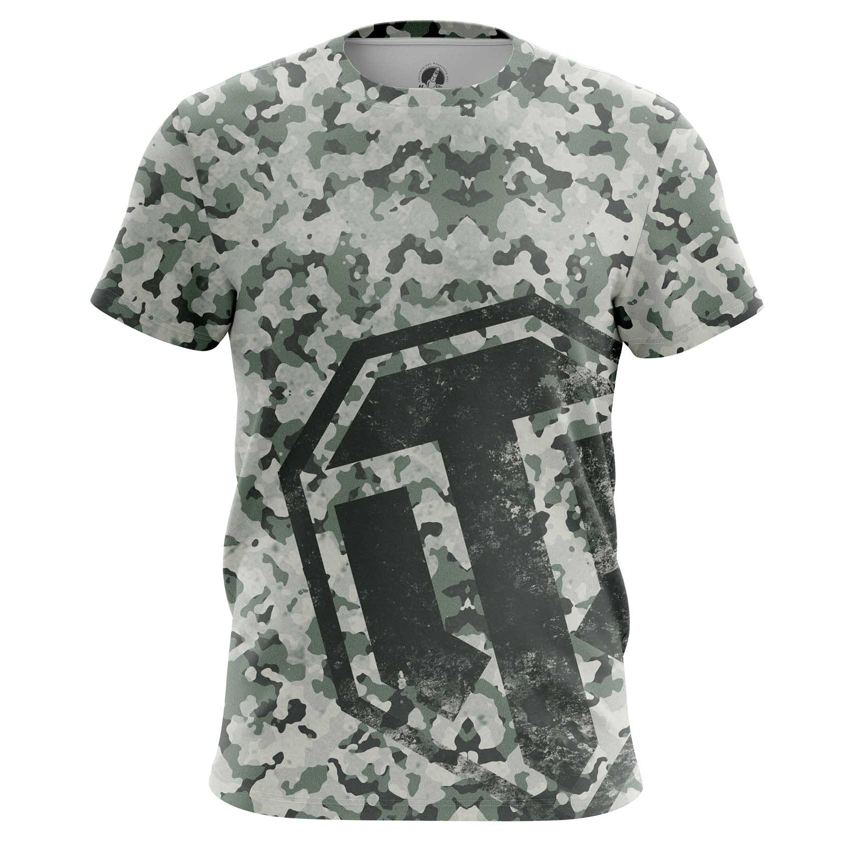 Merch Men'S T-Shirt World Of Tanks Navi Military Pattern