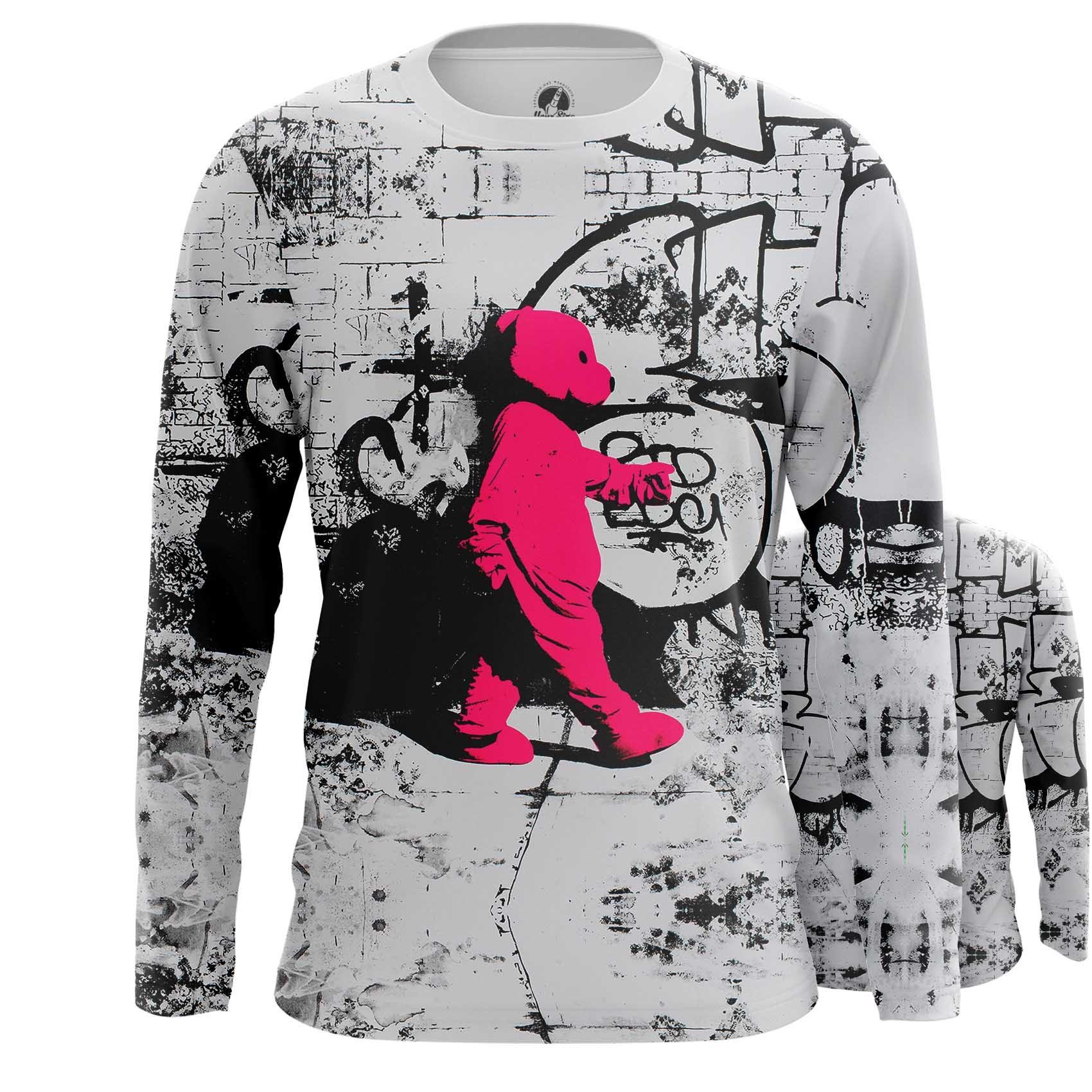 Merch Long Sleeve Bear Gang Animals Illustration Inspired Art