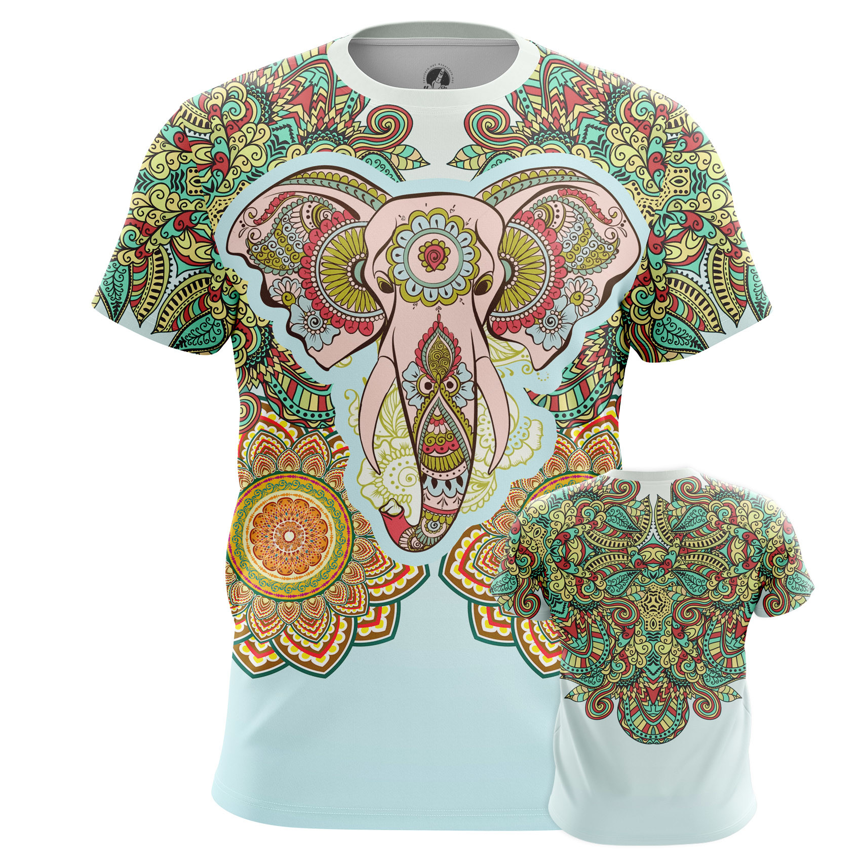 Collectibles Men'S Long Sleeve Esoteric Elephant Tattoo
