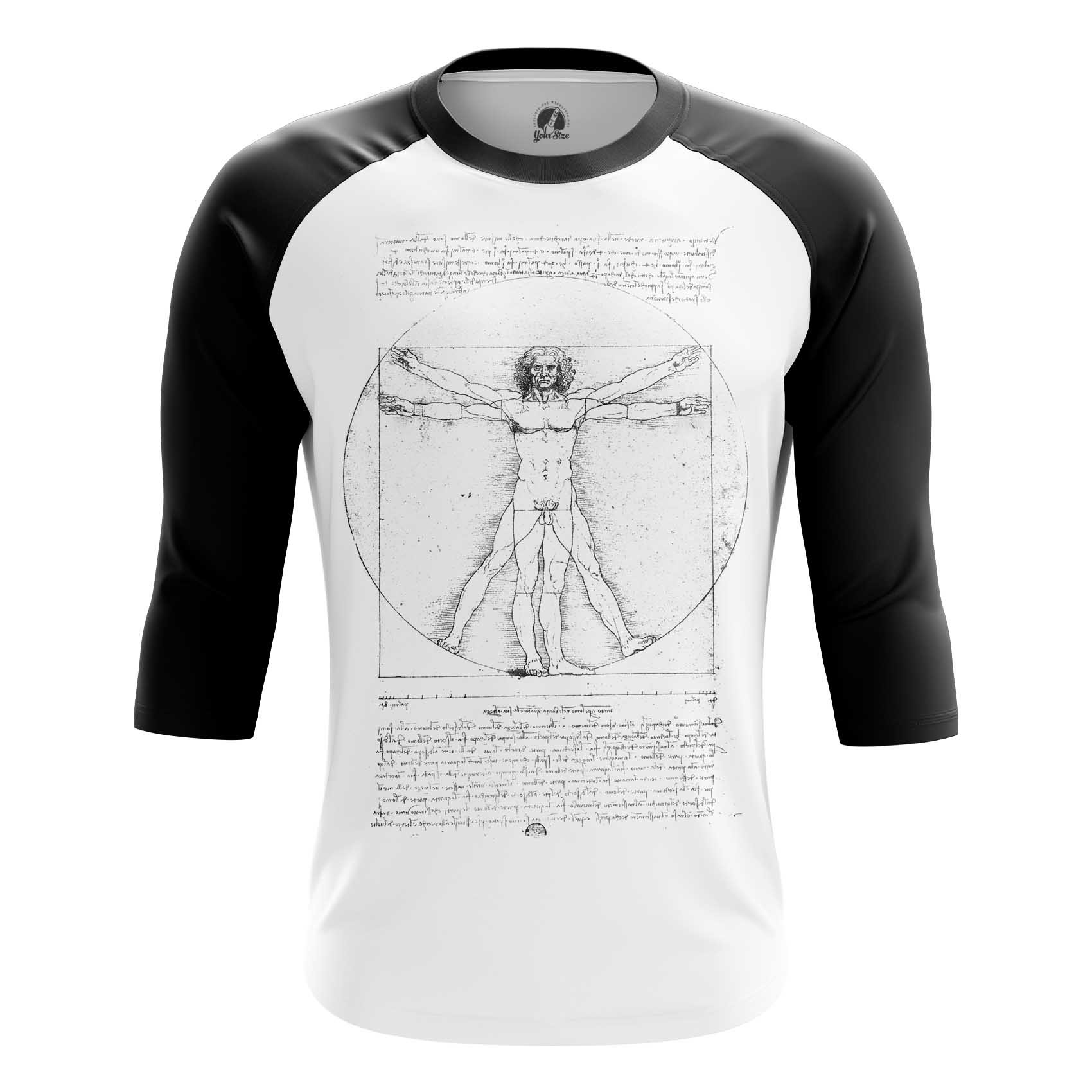 aada1bb8d Raglan t-shirt Vitruvian Man Leonardo da Vinci Fine - IdolStore
