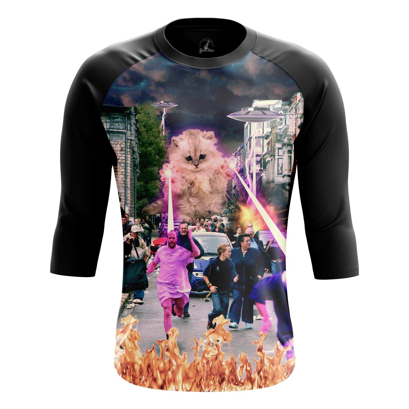 Merch Men'S T-Shirt Kitten No One Loved Laser Cat Crash Fun