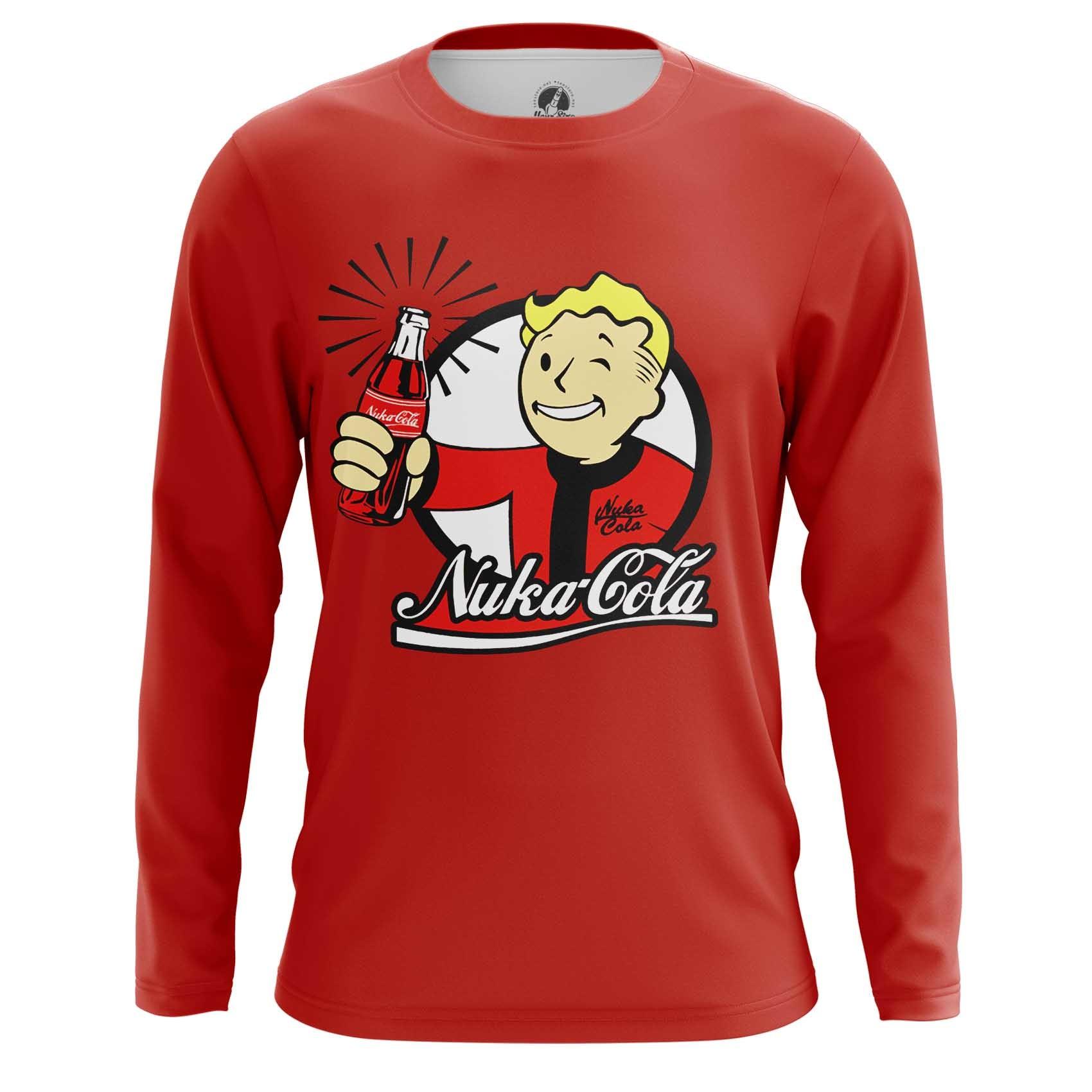 Merch Long Sleeve Nuka Cola Wallpaper Vault Boy Fallout