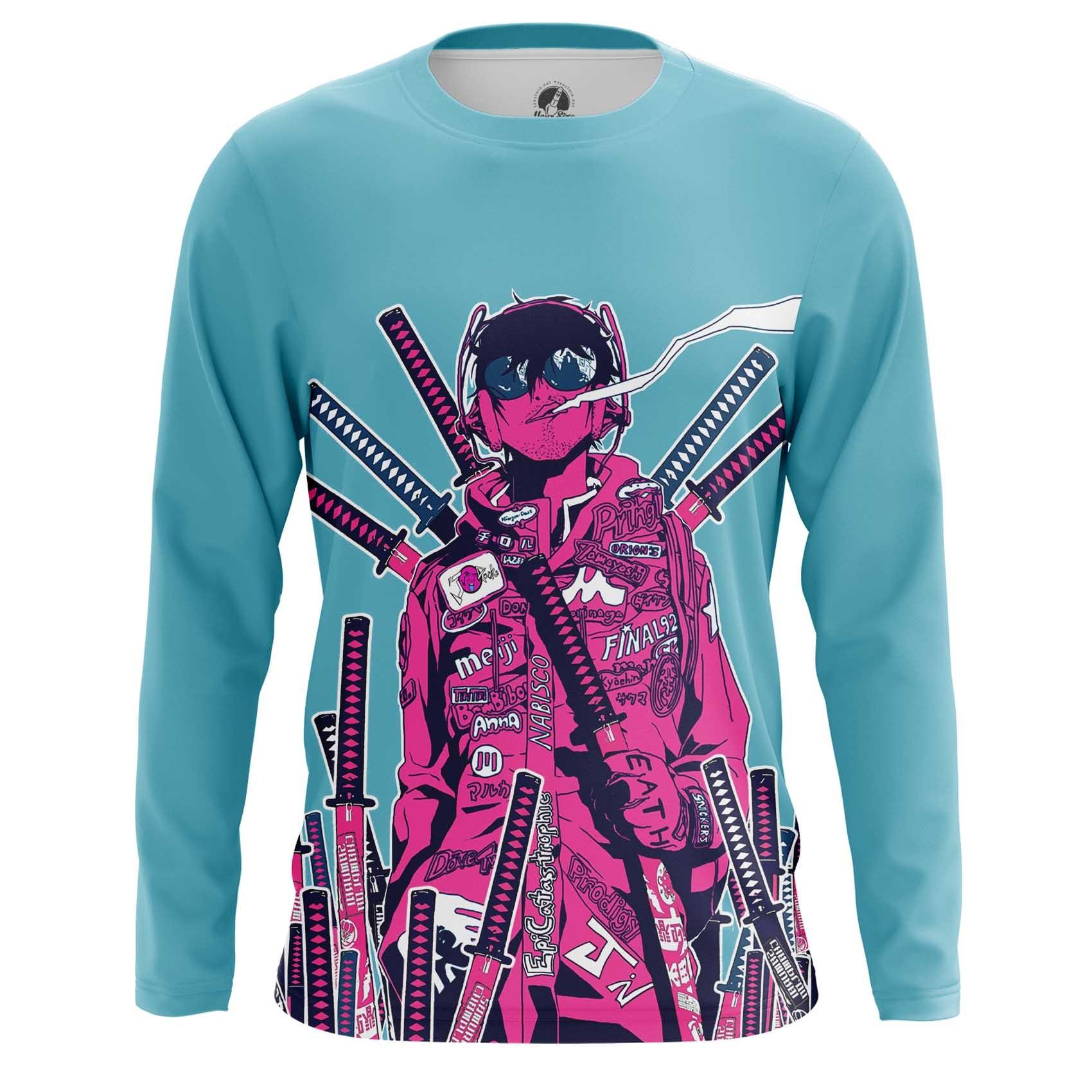 Merchandise Men'S Long Sleeve New Samurai Illustration New Wave