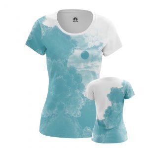 Merch Women'S T-Shirt Blue Sky Clouds
