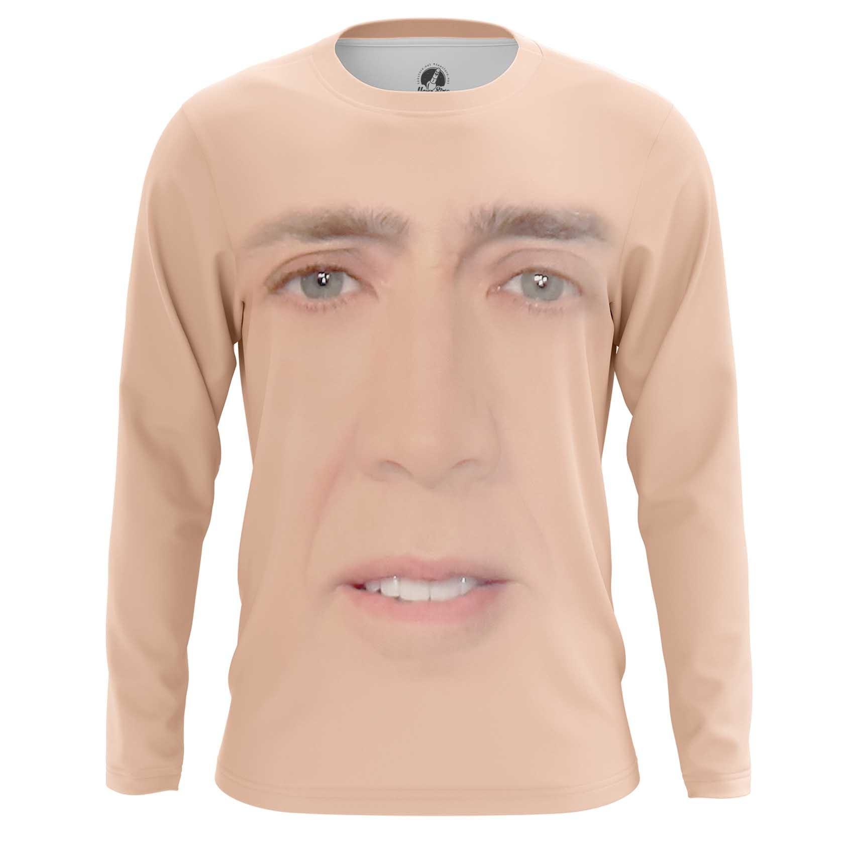 Collectibles Men'S T-Shirt Nicolas Cage Face Art Meme Fun