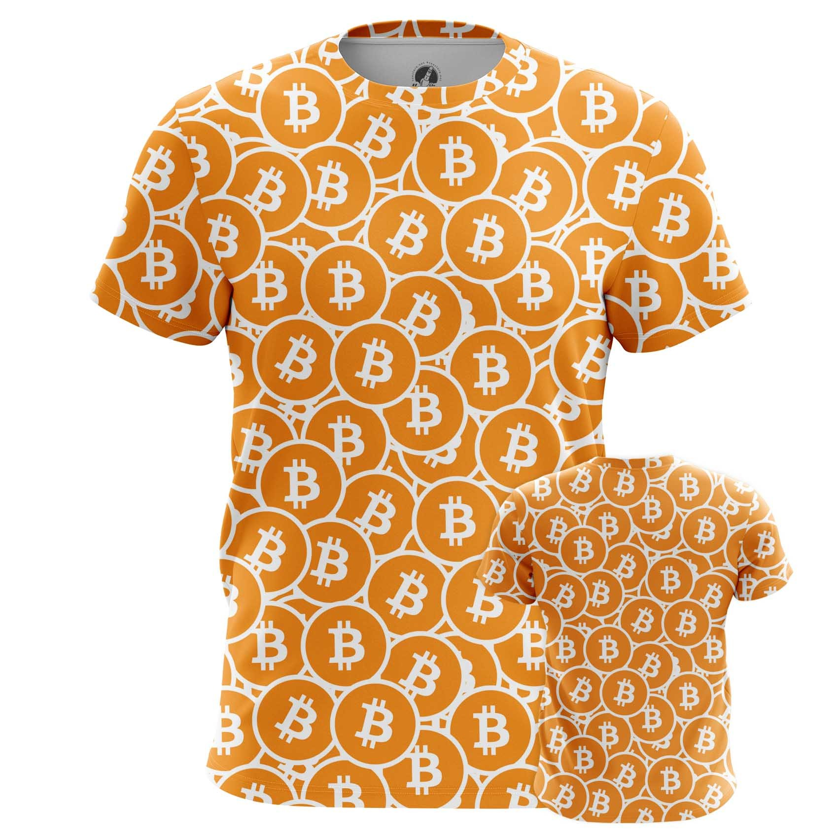 Merchandise Men'S T-Shirt Bitcoin Pattern Mining Cryptocurrency
