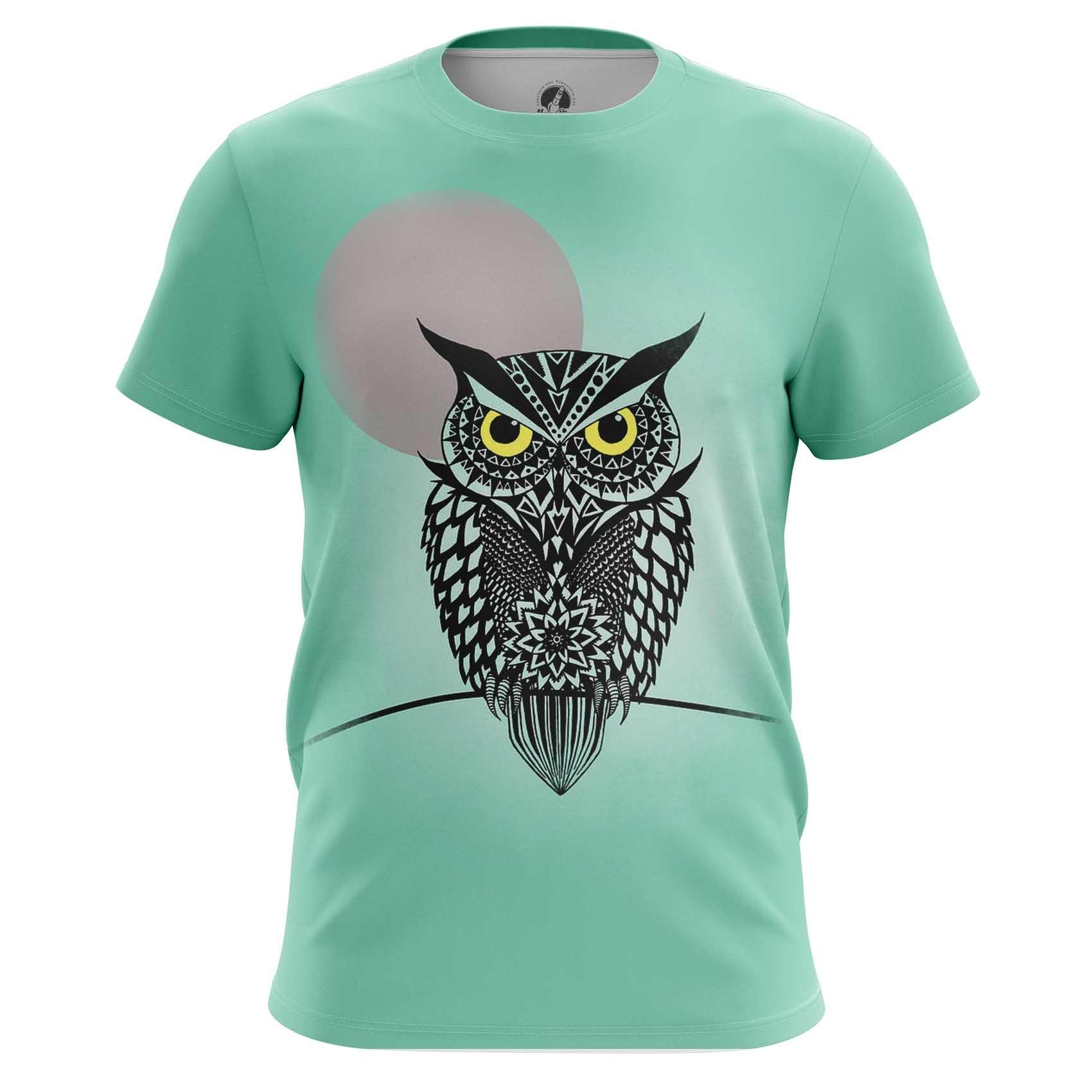 Collectibles Long Sleeve Owl Bird Art Animals Shirts