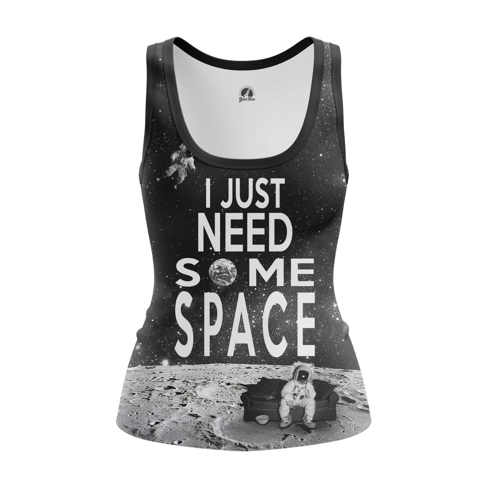 Merchandise - Women'S Tank Need Space Moon Universe Vest