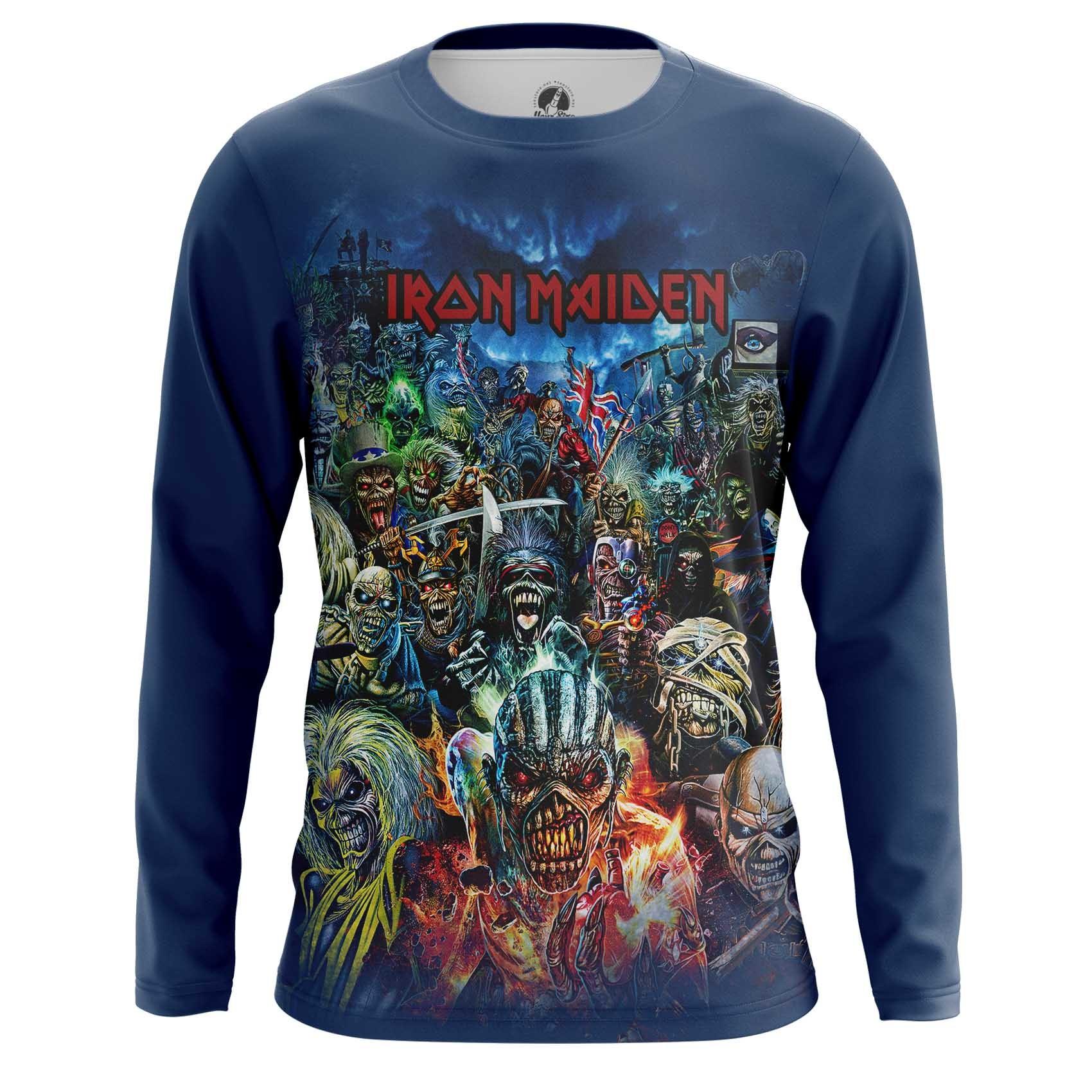 Merch Iron Maiden Men'S T-Shirt Blue