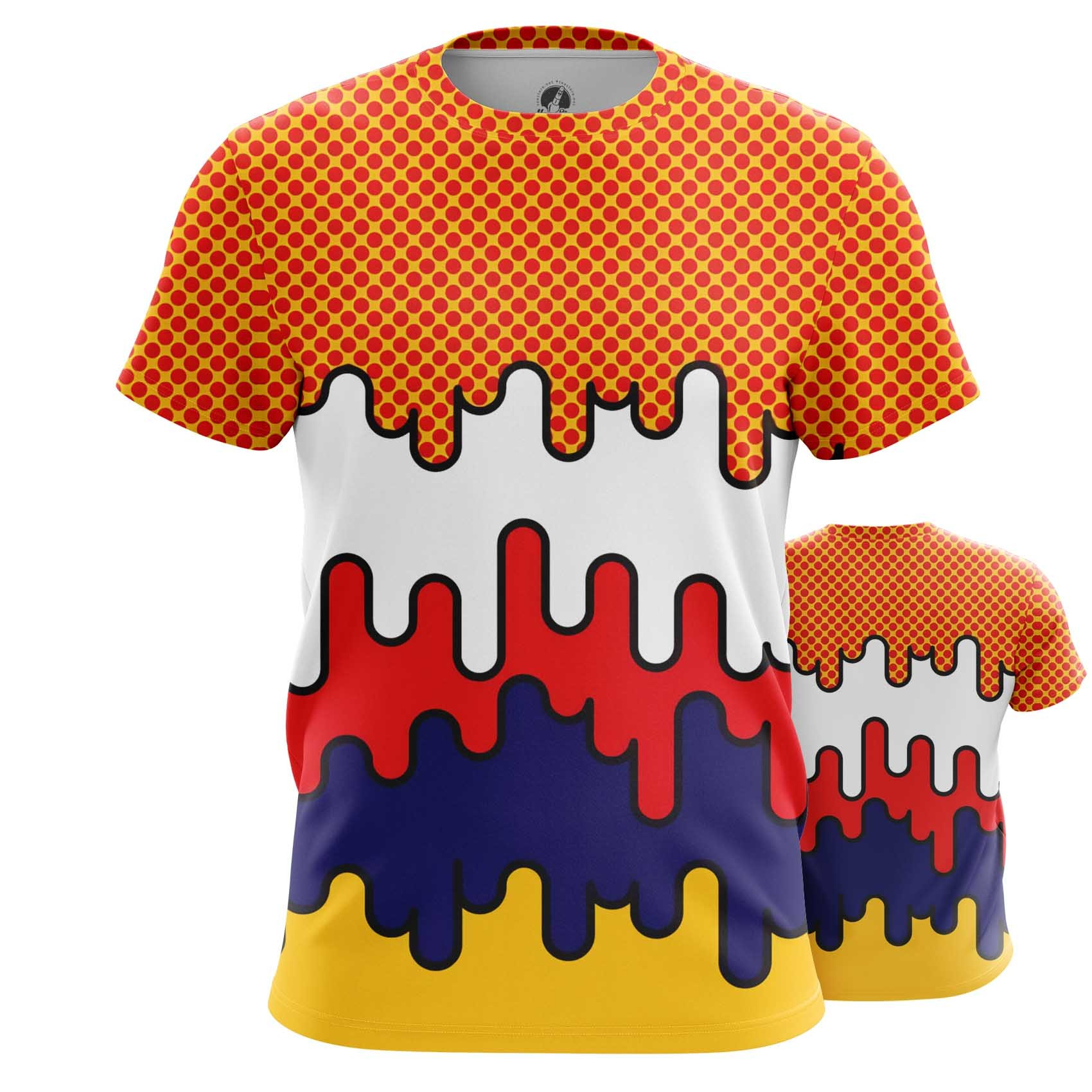 Collectibles T-Shirt Comics Patterns Pop Art Inspired Textures