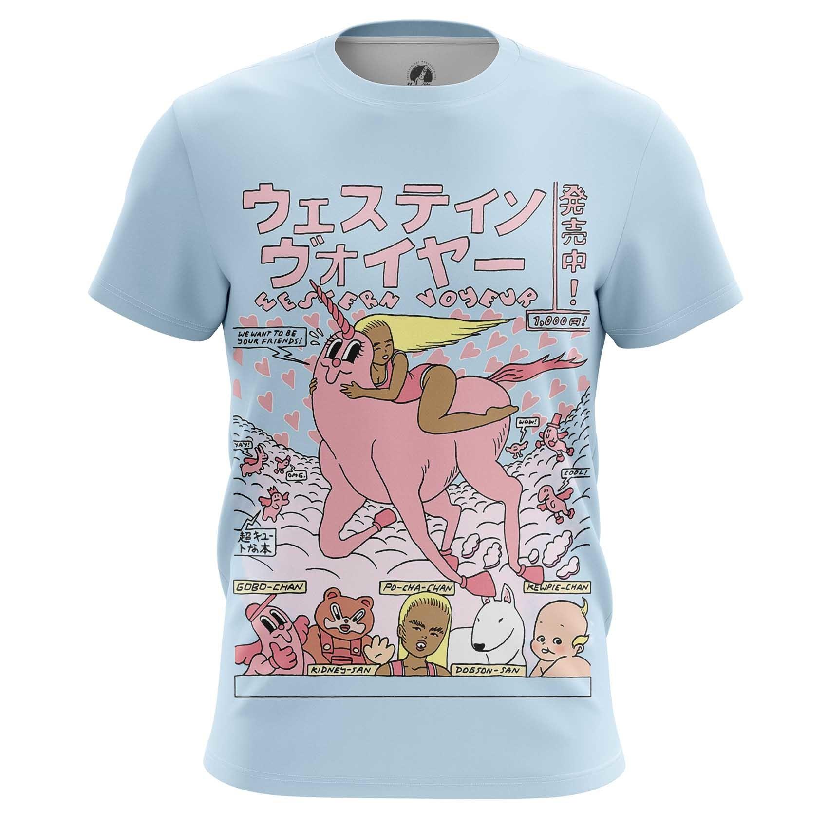 Merchandise Men'S Long Sleeve Unicorn Friends Art Web Illustration