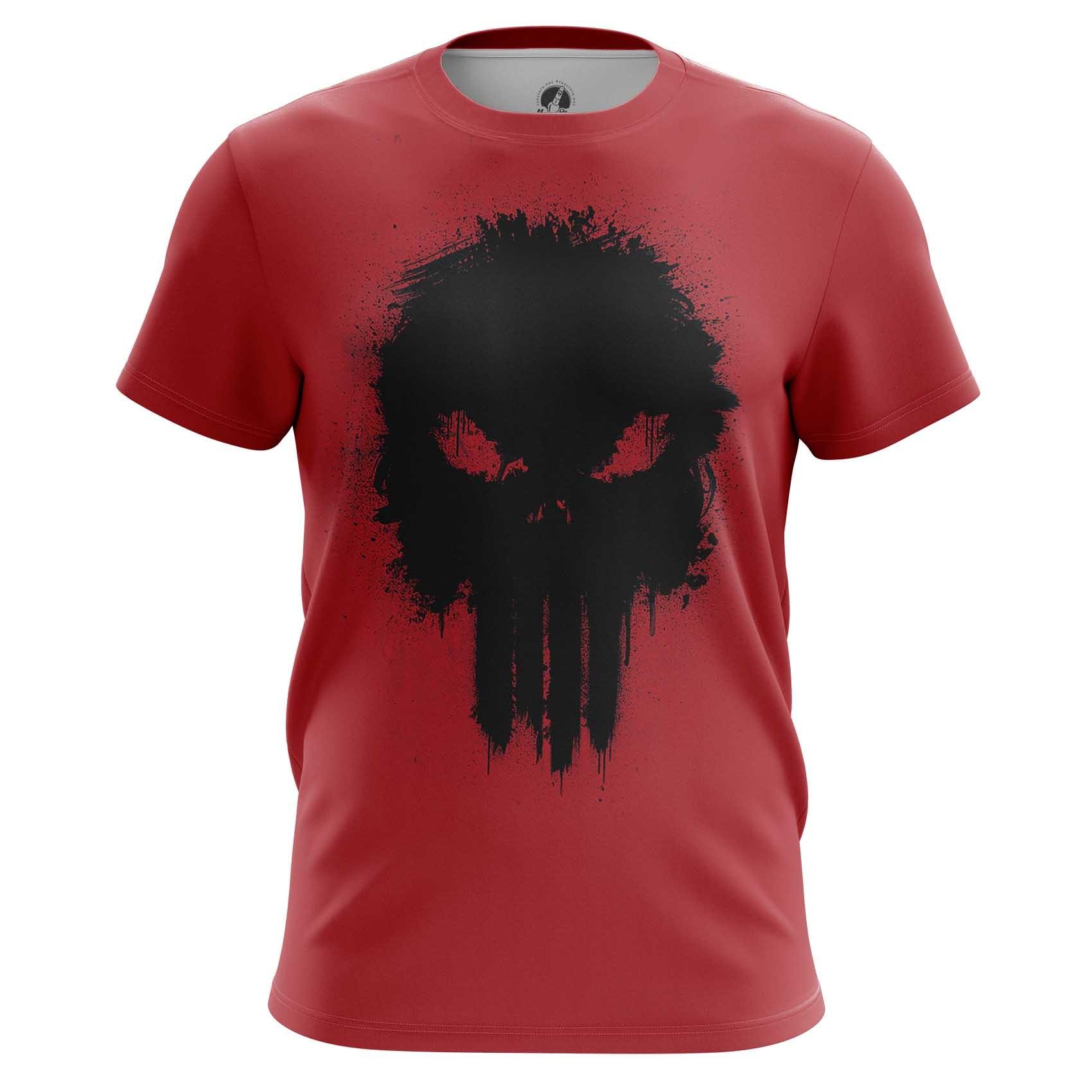 Merch Long Sleeve Punisher Red Illustration Inspired