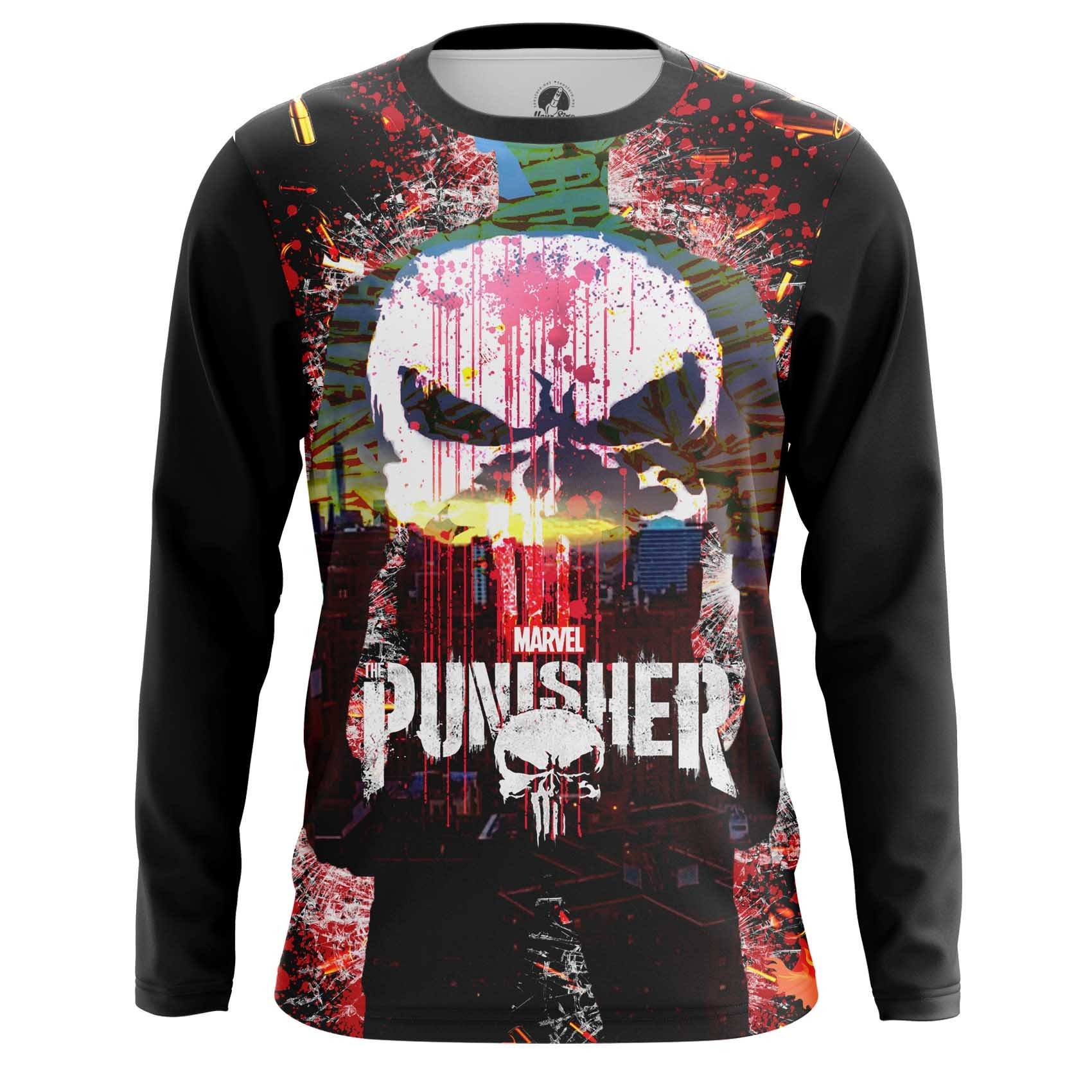 Collectibles Long Sleeve Punisher Skull Illustration Inspired