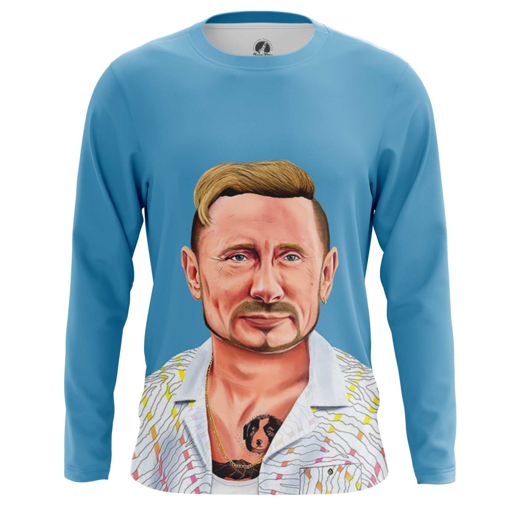 Merch Men'S T-Shirt Vladimir Putin Hipster Russian President