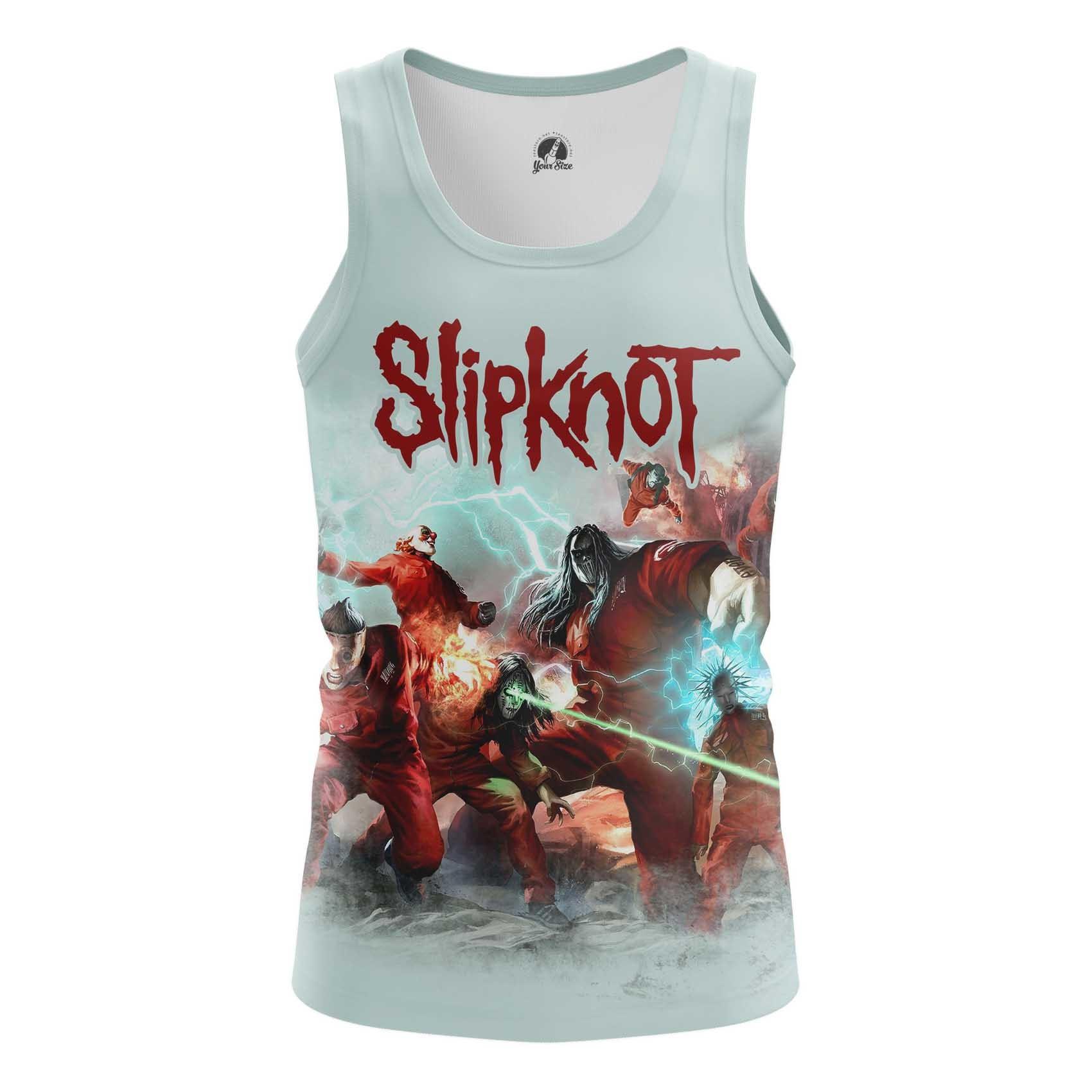 Merch Men'S T-Shirt Slipknot Band Flashes