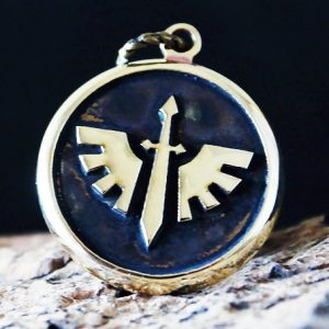Merch Necklace Spacemarines 40K Blood Ravens Handmade Pendant