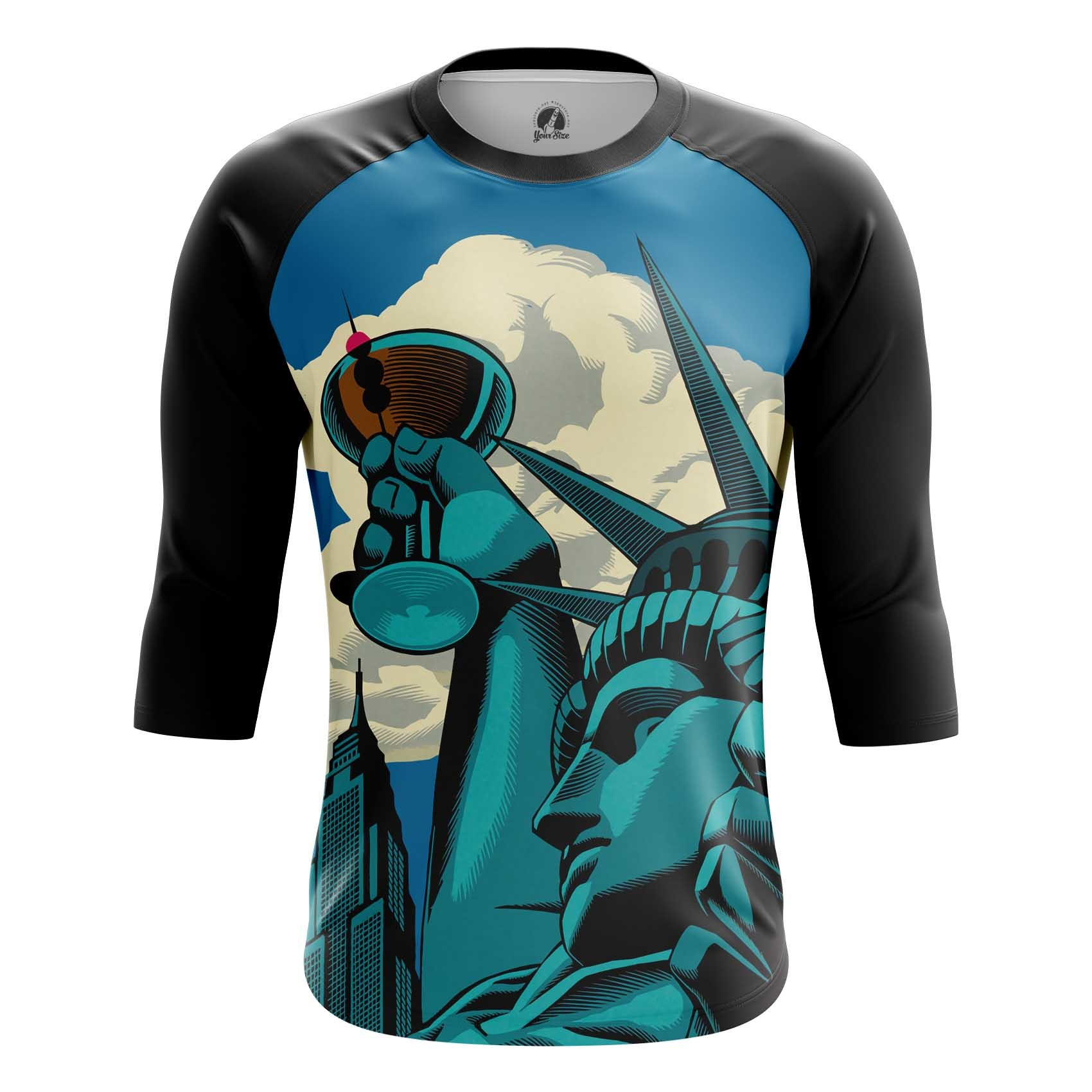 Merchandise T-Shirt Statue Of Liberty Web Art Inspired Have A Drink Vine