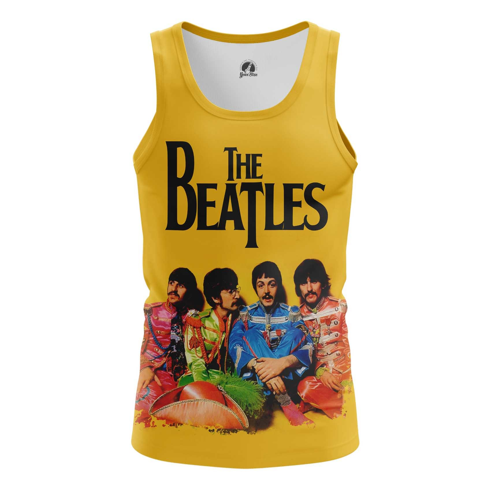 Collectibles T-Shirt Beatles Yellow Hippie Style Band