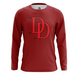 Collectibles Men'S Long Sleeve Daredevil Logo Red