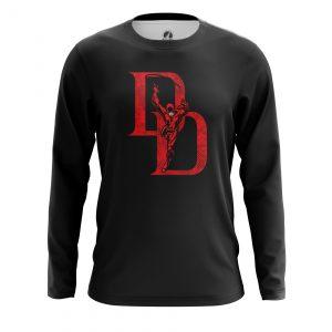 Collectibles Men'S Long Sleeve Daredevil Logo Black