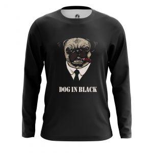 Merch Men'S Long Sleeve Dog In Black Pug Men In Black