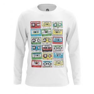 Collectibles Men'S Long Sleeve Eighties Audio Cassette 80S