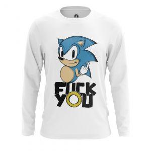 Merchandise Men'S Long Sleeve Fock You Hedgehog Sonic Sega