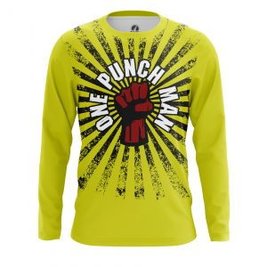 Collectibles Men'S Long Sleeve One Punch Man Yellow