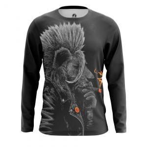 Merchandise Men'S Long Sleeve Punk Lion Animals Lions Punk Lion