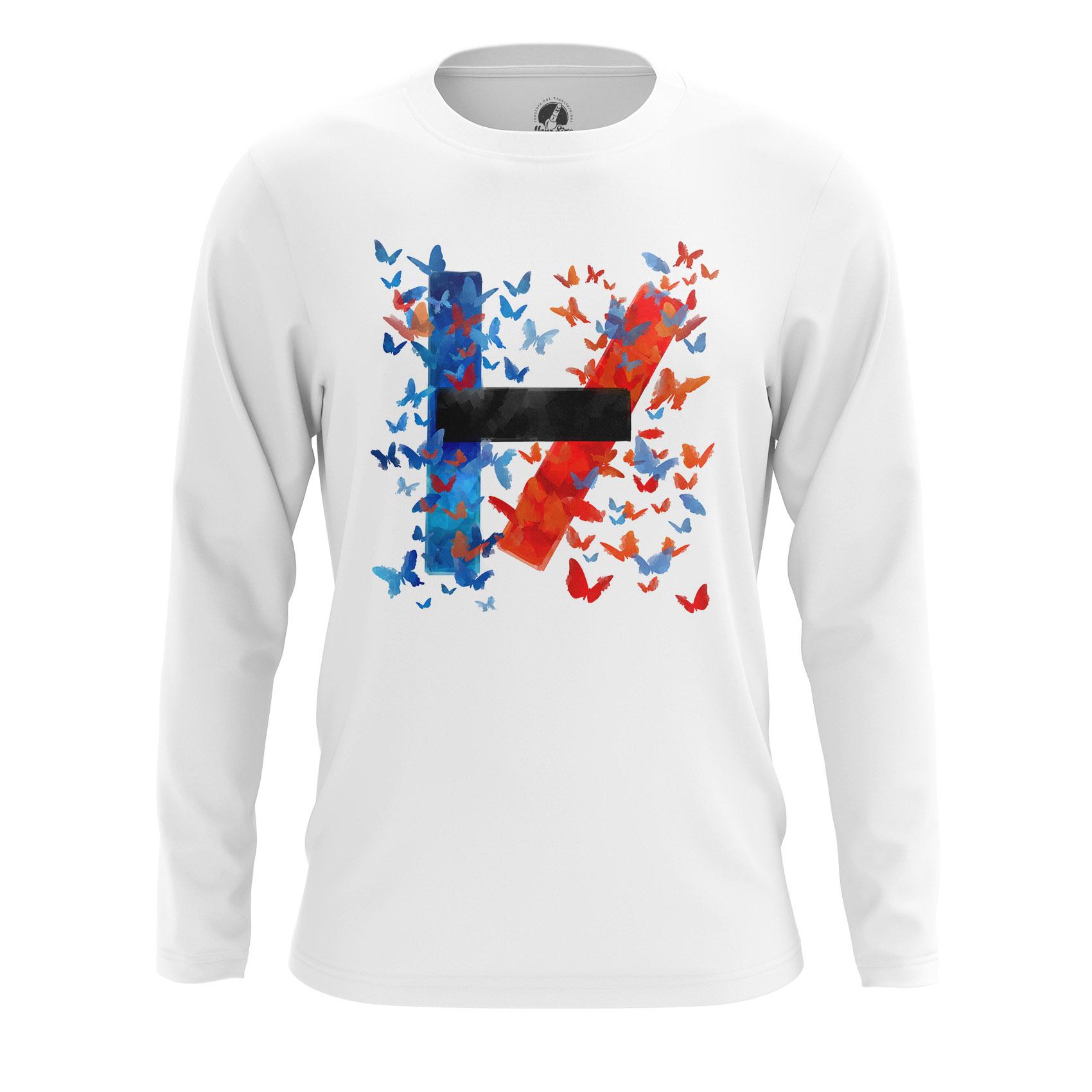 Merchandise Men'S Long Sleeve Twenty One Pilots Logo Shirts Clothes