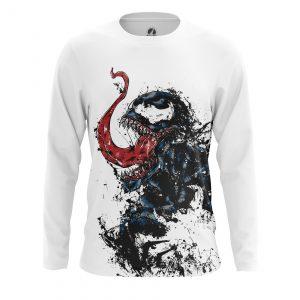 Collectibles Men'S Long Sleeve Venom Symbiote White