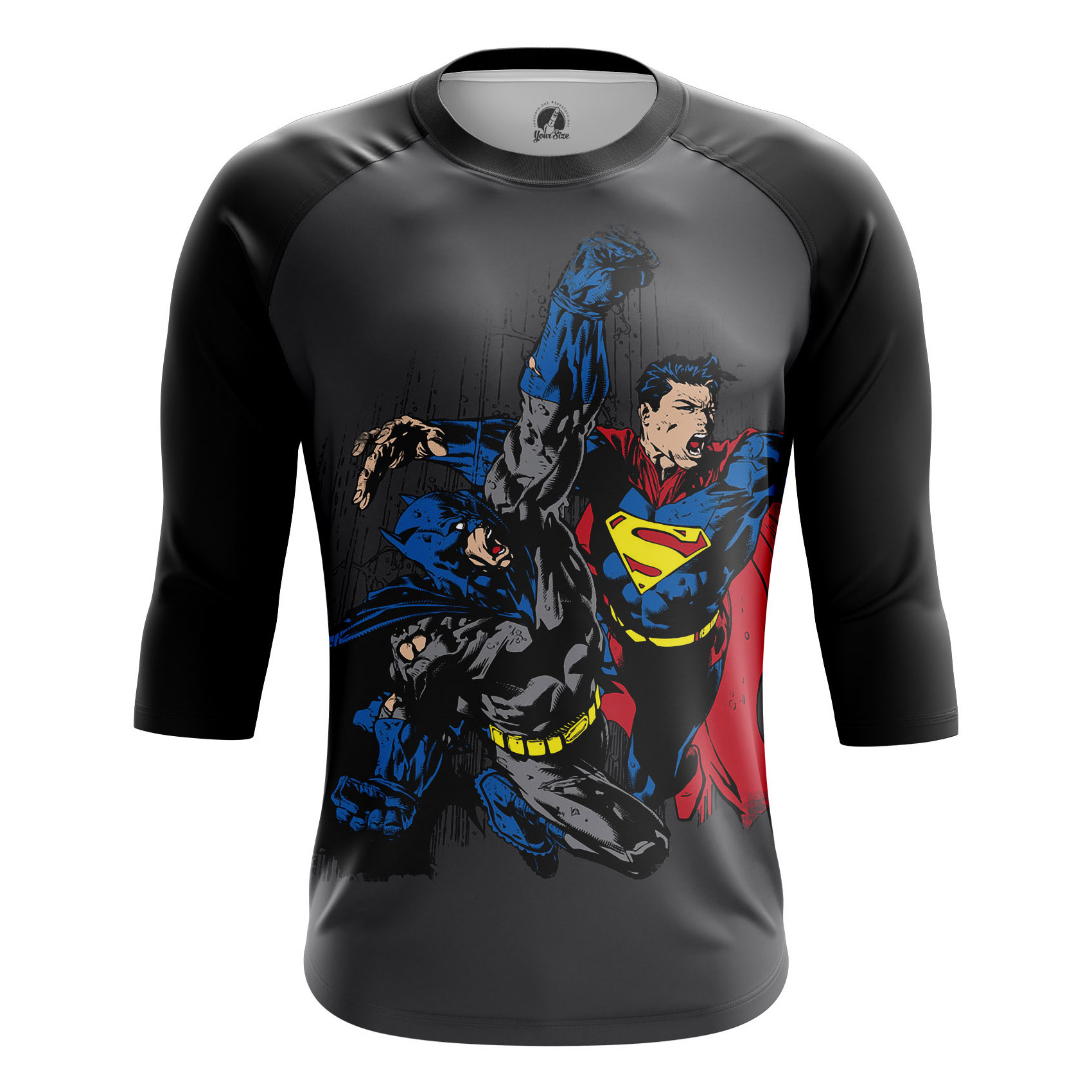 Merchandise - Men'S Raglan Batman Vs Superman Comics Dawn Justice