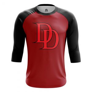 Collectibles Men'S Raglan Daredevil Logo Red