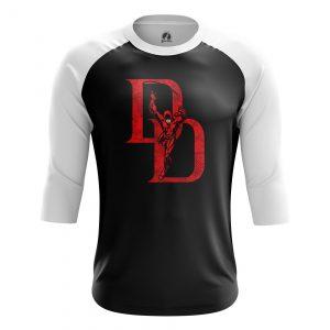 Collectibles Men'S Raglan Daredevil Logo Black