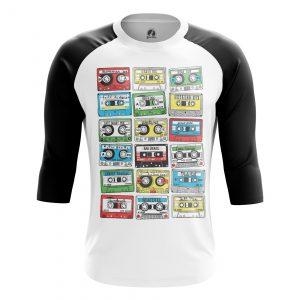 Collectibles Men'S Raglan Eighties Audio Cassette 80S
