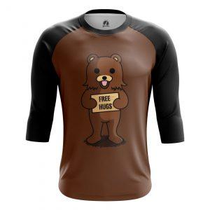 Merchandise Men'S Raglan Free Hugs Pedobear