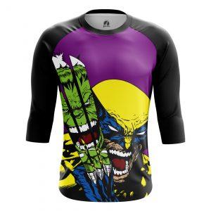 Collectibles Men'S Raglan Hulk Vs Wolverine