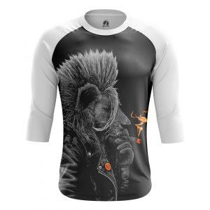 Merchandise Men'S Raglan Punk Lion Animals Lions Punk Lion
