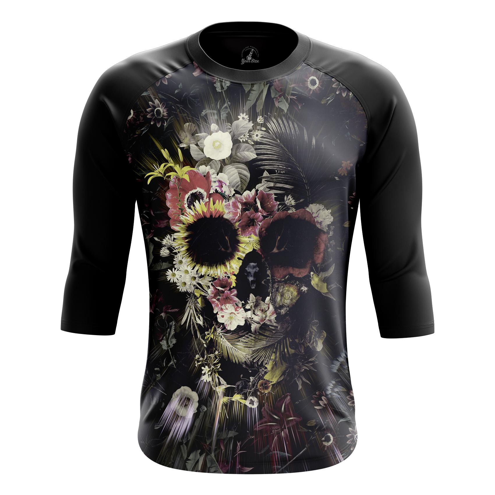 Merch Men'S Tank Floral Skull Skull Vest