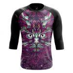 Merch - Men'S Raglan Rainbow Cat Animals Cats