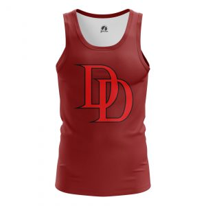 Collectibles Men'S Tank Daredevil Logo Red Vest