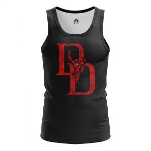 Collectibles Men'S Tank Daredevil Logo Black Vest