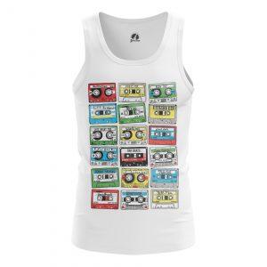 Collectibles Men'S Tank Eighties Audio Cassette 80S Vest