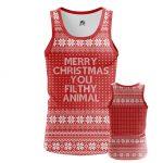 Merchandise - Men'S Tank Merry Christmas Filthy Animal Fun Vest