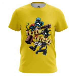 Merch Men'S T-Shirt Itchy And Scratchy The Simpsons