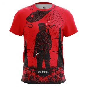Merchandise Men'S T-Shirt Solid Snake Metal Gear Solid