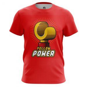 Merch Men'S T-Shirt Yellow Power Lego