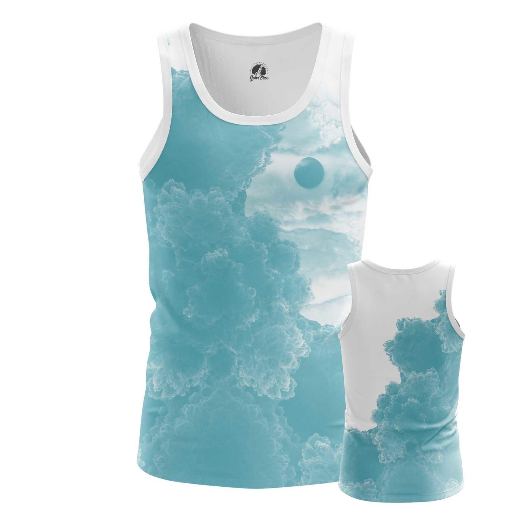 Collectibles Men'S Tank Blue Sky Clouds Vest
