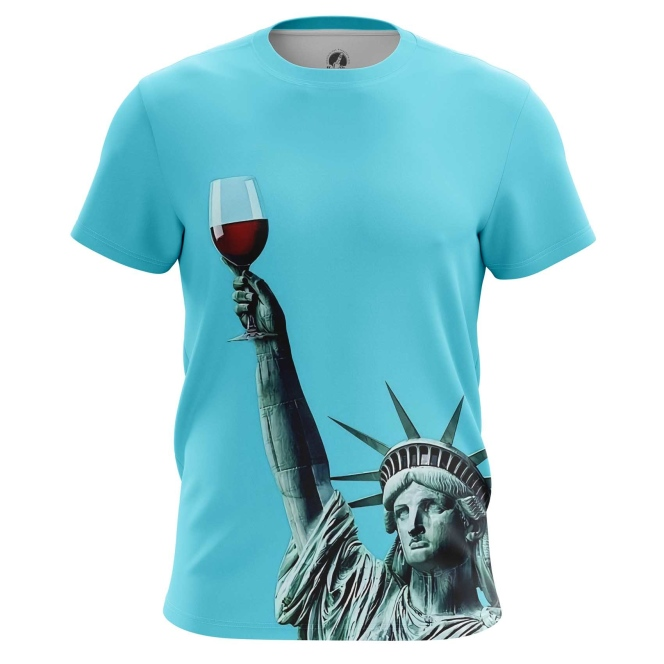 Merchandise T-Shirt Statue Of Liberty Art Inspired Have A Drink Vine