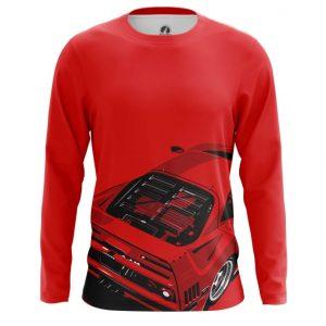 Collectibles Long Sleeve Ferrari Car Logo Emblem Red